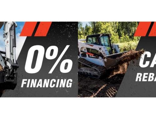 Bobcat Financing Offers, Cash Rebates